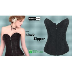 Corset Black Zipper