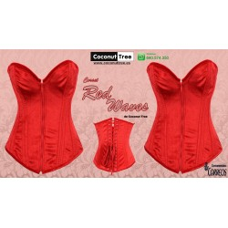 Corset Red Waves